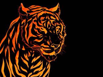Fire Tiger wallpaper by KRTArt