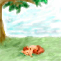 Napping Vulpix by Jaydeis