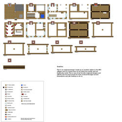 Minecraft floorplans small Inn by ColtCoyote