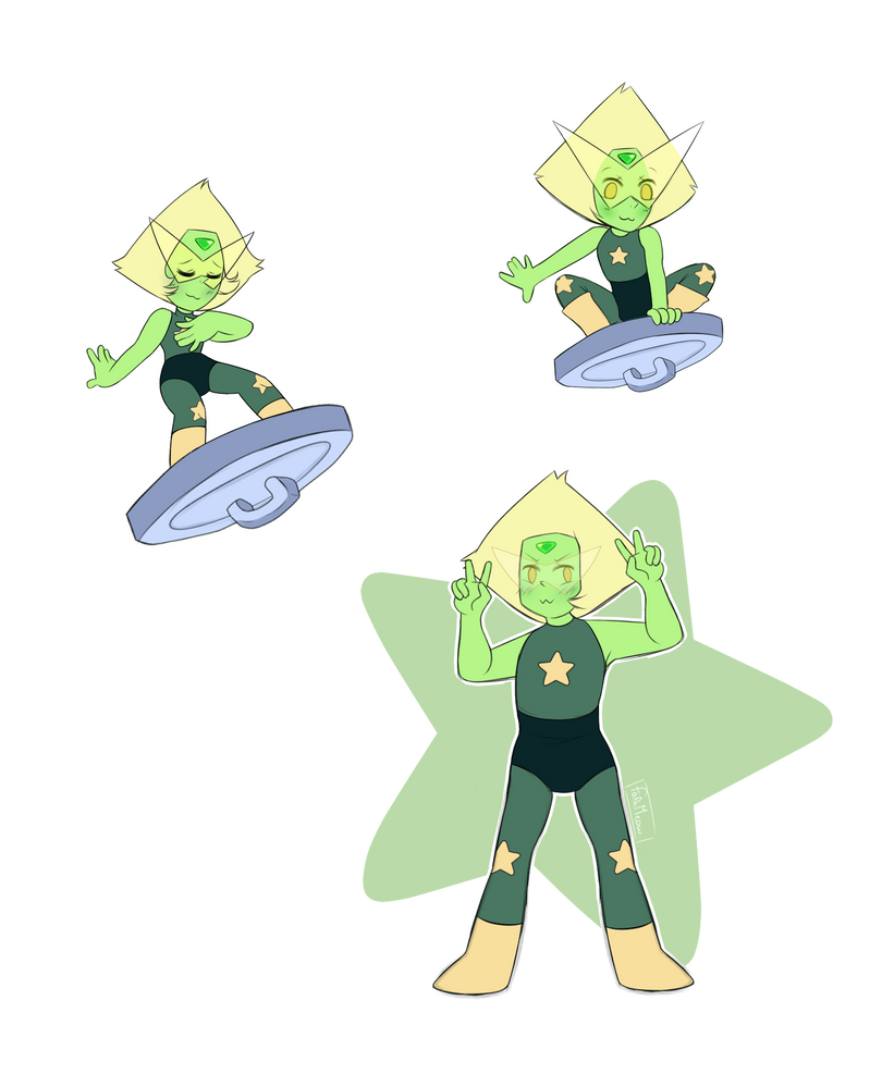 """Set your eyes on me, Homeworld! I, Peridot, have returned, not as your servant, but as your savior! I rule the skies!"""