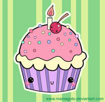B-day Cupcake by Toxic--Berry