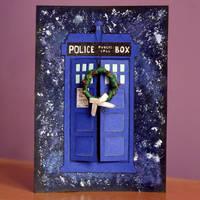 TARDIS Christmas Card by Toxic--Berry