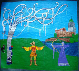 Eva Tell and Garuda Gessler by AksaStrig