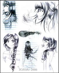 Hair Shading Practice by jojoju