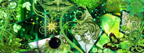 green facebook header by tatteredoll