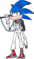 Sonic as a Ghostbuster by JefimusPrime