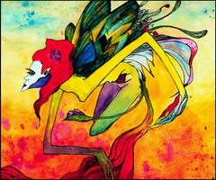 Fed Red Butterfly by LyndsayHarper