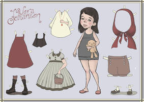 Red Ridinghood Paperdoll by pairtiger
