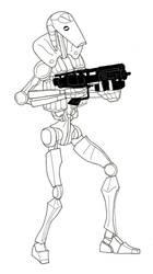Paratrooper Droid in lifejacket by Garrbatch-man