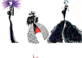 Disney villains go fashion!! by chiccas