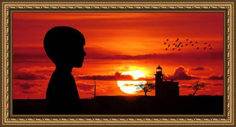 Lighthouse  Sunset by arnarn-stinkfist