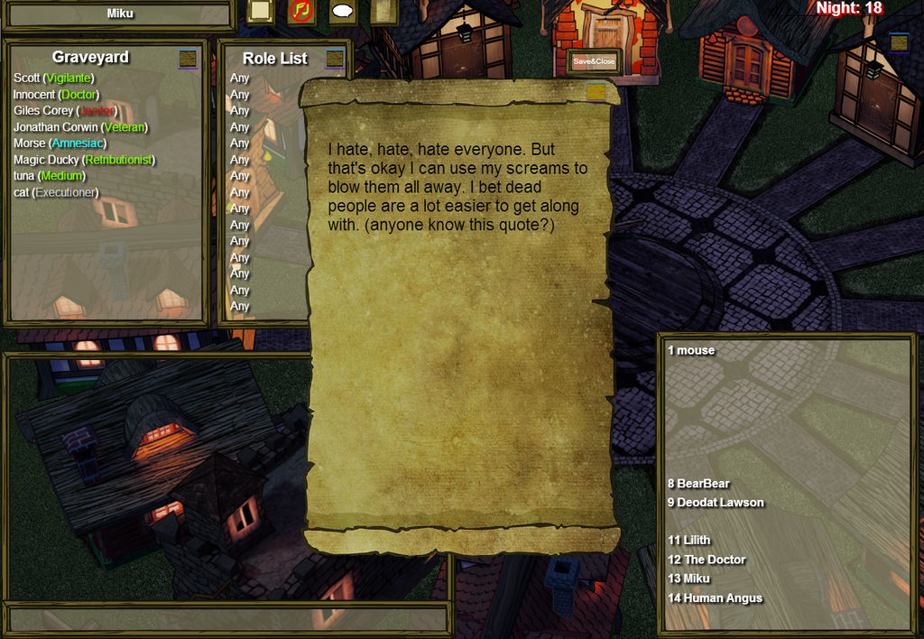 My Last Will In Town Of Salem By Xxbloodystarzxx On Deviantart