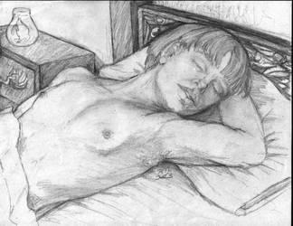 Sleeping Seamus by witchchylde