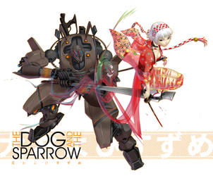 the dog and the sparrow by chesterocampo