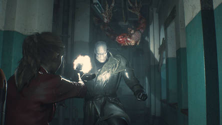 Resident Evil 2 Remake Mr. X Screenshot 5 by xGamergreaserx