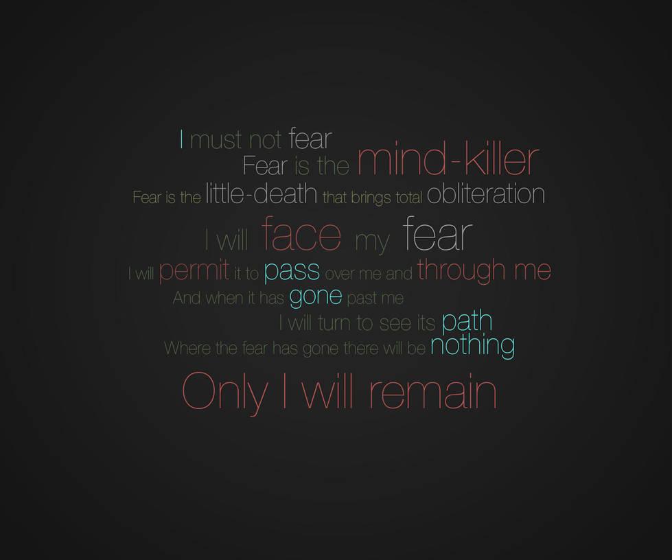 litany against fear dune wallpaper by archaines on deviantart