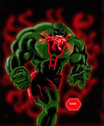 Bruce Banner: Red Lantern by JerryLSchick