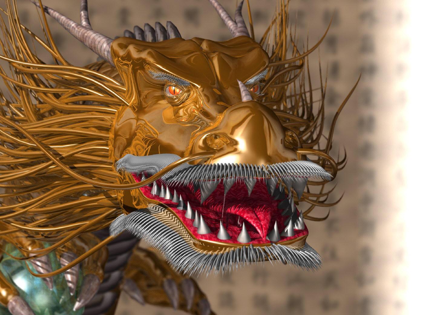 Golden Dragon by AkaiGaru