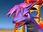 purple dragon by AkaiGaru