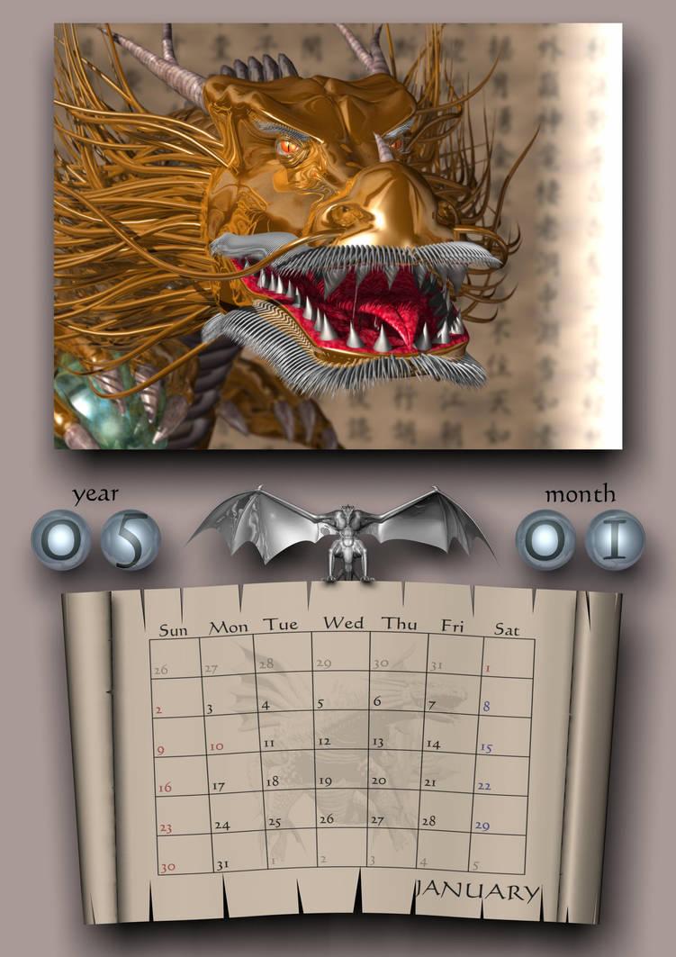 DDD Calendar Jan 2005 JP by AkaiGaru
