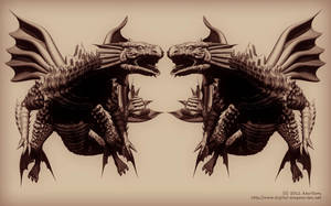Deep Sea Dragon Wallpaper by AkaiGaru