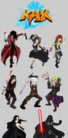 KAK Characters by KamlotVIII