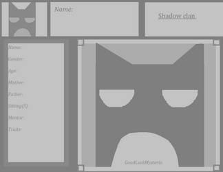 Shadow clan information sheet by GoodluckMysterio