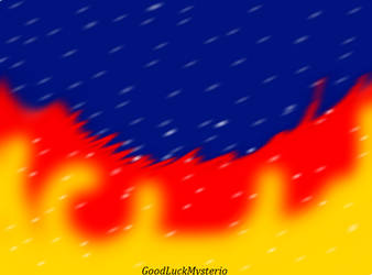 Wild fire in the snow by GoodluckMysterio
