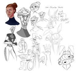 Sketch Dump March 2014 by RaChoTamer
