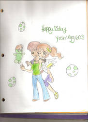 Happy Bday Yoshiegg603 by spiderboy1