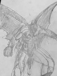 Batman Sketch 10/24/18 by jddishmonart