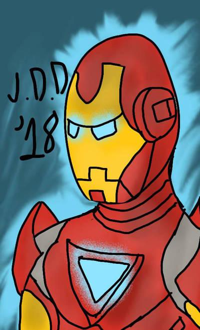 Tony Stark Iron Man sketch  by jddishmonart