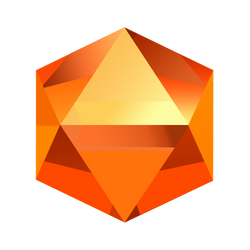 Bejeweled Orange Gem by LDinos