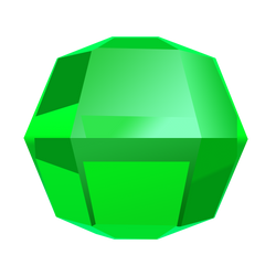 Bejeweled Green Gem by LDinos
