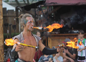 fireeater with chopsticks by DieCooleSocke