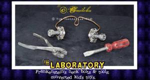 Frankenstein's Neckbolts frame + Tools by crudelia