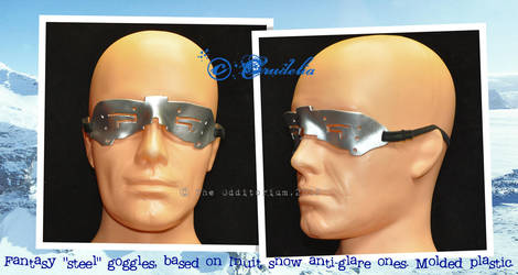 faux steel anti-glare goggles by crudelia