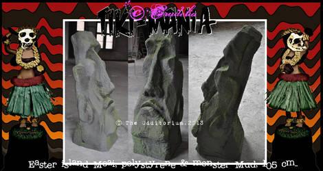 Tiki-Mania Moai by crudelia