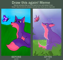 Draw This Again! Meme: Flower and Butterfly by CrystalDisc