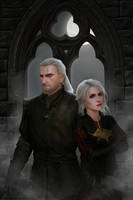 Geralt and Ciri by GoldKanet