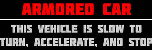 Armored Car Bumpersticker by MouseDenton