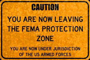 Leaving FEMA Zone by MouseDenton