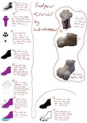 Fursuit footpaws tutorial by labradorpup2001