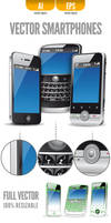 Three Vector Smartphones by doghead
