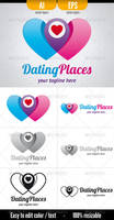 Dating Places - Logo Template by doghead