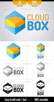 Cloud Box - Logo template by doghead