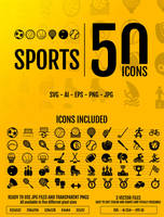 Sports: 50 icons by doghead