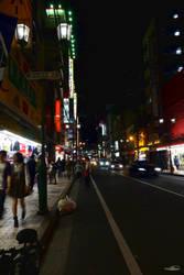Osaka at night by DianaShadoweye