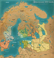 Fantasy map of the Baltic Sea 1000-1100 AD by taivaansusi