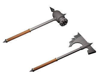 Hammer and Axe by Adviel